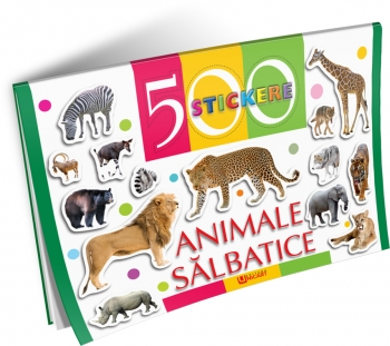 500 STICKERE-ANIMALE SALBATICE